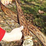 Аксессуары handmade. Livemaster - original item Leather belt with Celtic knot. Handmade.