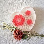 """Косметика ручной работы. Ярмарка Мастеров - ручная работа Мыло """"Признание"""", подарки на 8 марта, шебби, красный, белый, сердце. Handmade."""
