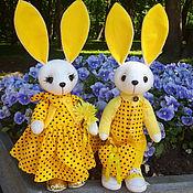 Куклы и игрушки handmade. Livemaster - original item Toy hare-a pair of yellow rabbits.. Handmade.