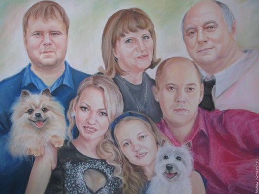 Люди, ручной работы. Ярмарка Мастеров - ручная работа. Купить портрет по фото. Handmade. Комбинированный, сухая пастель, портрет, новосибирск