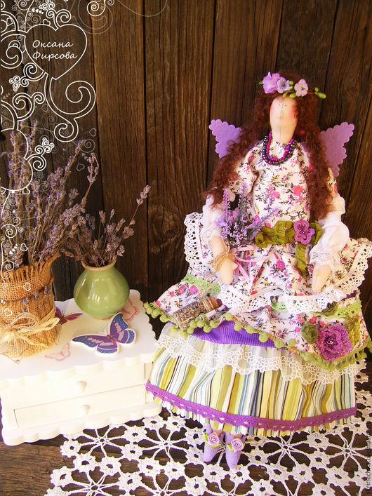 Куклы Тильды ручной работы. Ярмарка Мастеров - ручная работа. Купить Тильда : Горная Лаванда интерьерная текстильная кукла. Handmade.