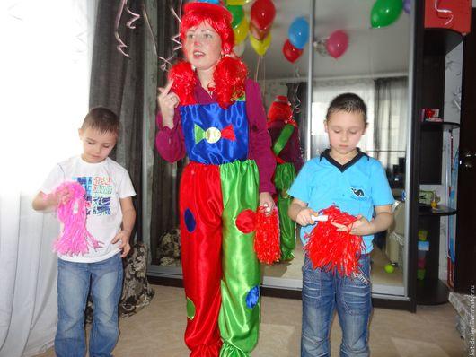 Карнавальные костюмы ручной работы. Ярмарка Мастеров - ручная работа. Купить Костюм для аниматоров. Handmade. Комбинированный, комбинезон клоуна
