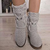 """Обувь ручной работы handmade. Livemaster - original item Demi-season boots """"Owls"""". Handmade."""