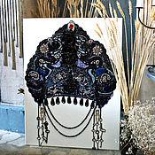 Картины и панно handmade. Livemaster - original item Painting from semiprecious stones Russian kokoshnik. Handmade.