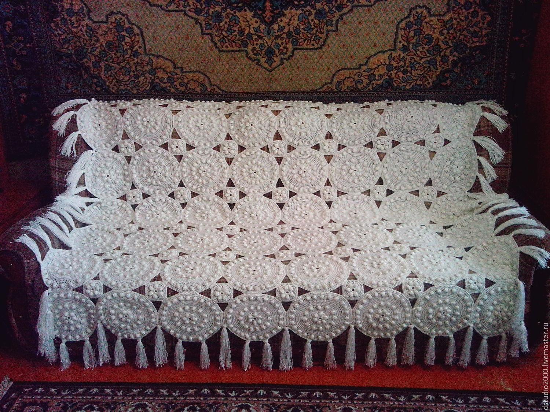 Вязание крючком покрывал на диван
