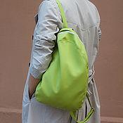 Сумки и аксессуары ручной работы. Ярмарка Мастеров - ручная работа Салатовый рюкзак. Handmade.