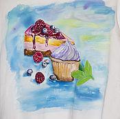 Одежда handmade. Livemaster - original item Sweatshirt painted