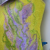 Одежда handmade. Livemaster - original item Vest felted Irises. Handmade.