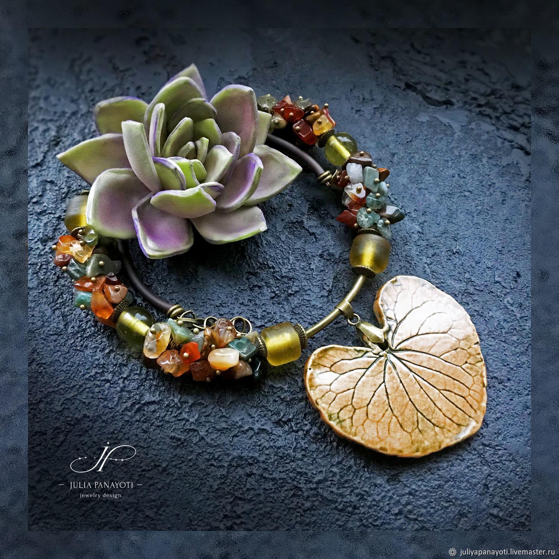 """Колье """"Дыхание осени"""" с авторской керамикой, Necklace, Murmansk,  Фото №1"""