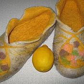 """Обувь ручной работы. Ярмарка Мастеров - ручная работа Тапочки из шерсти """"Вкус лимона"""". Handmade."""