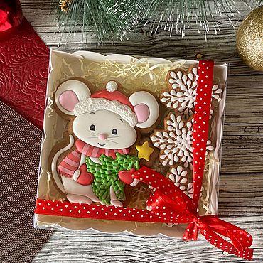 Сувениры и подарки ручной работы. Ярмарка Мастеров - ручная работа Пряник мышка Символ года 2020. Handmade.
