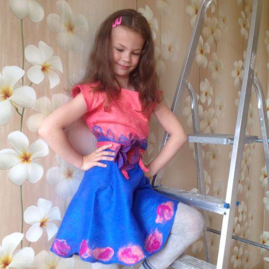 """Одежда для девочек, ручной работы. Ярмарка Мастеров - ручная работа. Купить Платье валяное """"Настенька"""". Handmade. Платье валяное"""