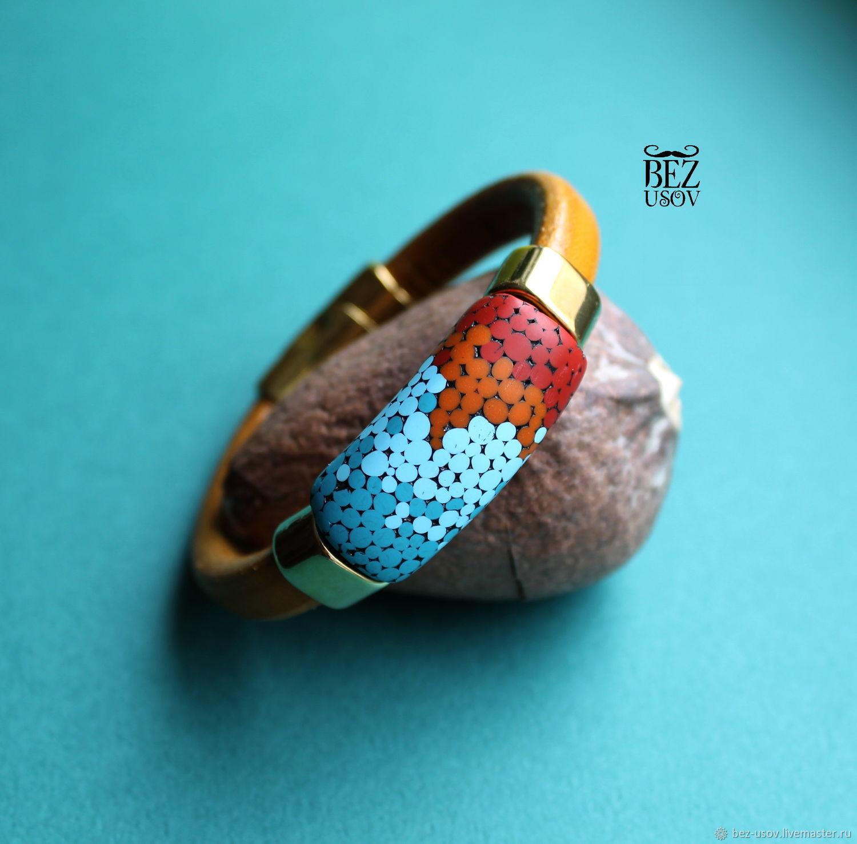 Women's leather bracelet Regaliz 'Greece', Regaliz bracelet, Domodedovo,  Фото №1