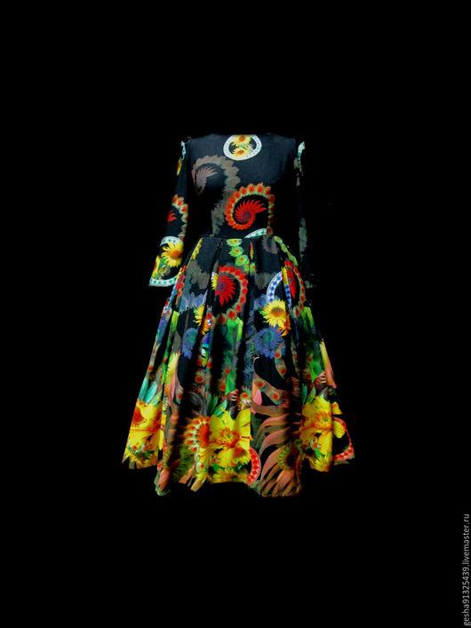 """Платья ручной работы. Ярмарка Мастеров - ручная работа. Купить Платье """"Ночное сияние"""" в цвете фуксия. Handmade. Черный"""