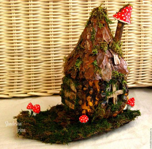 Миниатюрные модели ручной работы. Ярмарка Мастеров - ручная работа. Купить Сказочный лесной домик из тыквы. Handmade. Комбинированный, школа