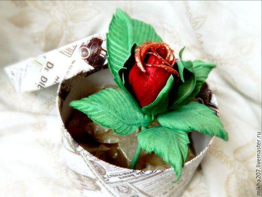 """Цветы ручной работы. Ярмарка Мастеров - ручная работа. Купить Роза """"Соло 2"""" из японской ткани шах-люкс.. Handmade."""