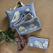 Сумки и аксессуары handmade. Livemaster - original item Copy of Cosmetic bag with handle. Large cosmetic bag with embroidery.. Handmade.