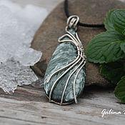 Украшения handmade. Livemaster - original item Pendant from silver and serafinite. Handmade.
