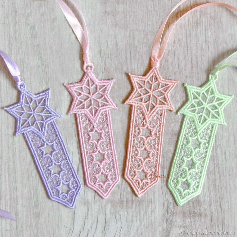 10pcs Bookmark for books embroidered Oriental Morning, Bookmark, Moscow,  Фото №1