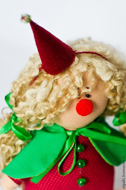 Коллекционные куклы ручной работы. Ярмарка Мастеров - ручная работа. Купить Няшечка-Кудряшка.. Handmade. Бордовый, гномик, бисер