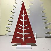 Подарки к праздникам handmade. Livemaster - original item Christmas tree 46cm Red. Handmade.