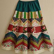 """Одежда ручной работы. Ярмарка Мастеров - ручная работа Лоскутная юбка""""Летний сад"""" для Наталии. Handmade."""