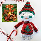 Куклы и игрушки handmade. Livemaster - original item Knitted snowman toy from Angry collection. Handmade.
