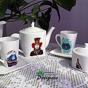 """Посуда ручной работы. Ярмарка Мастеров - ручная работа Чайный сервиз """"Алиса в стране чудес"""". Handmade."""