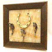 Картины и панно handmade. Livemaster - original item housekeeper horseshoe 3 horses. Handmade.