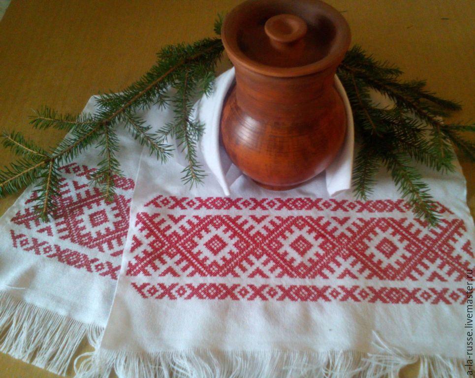 Вышивка русского полотенца 91