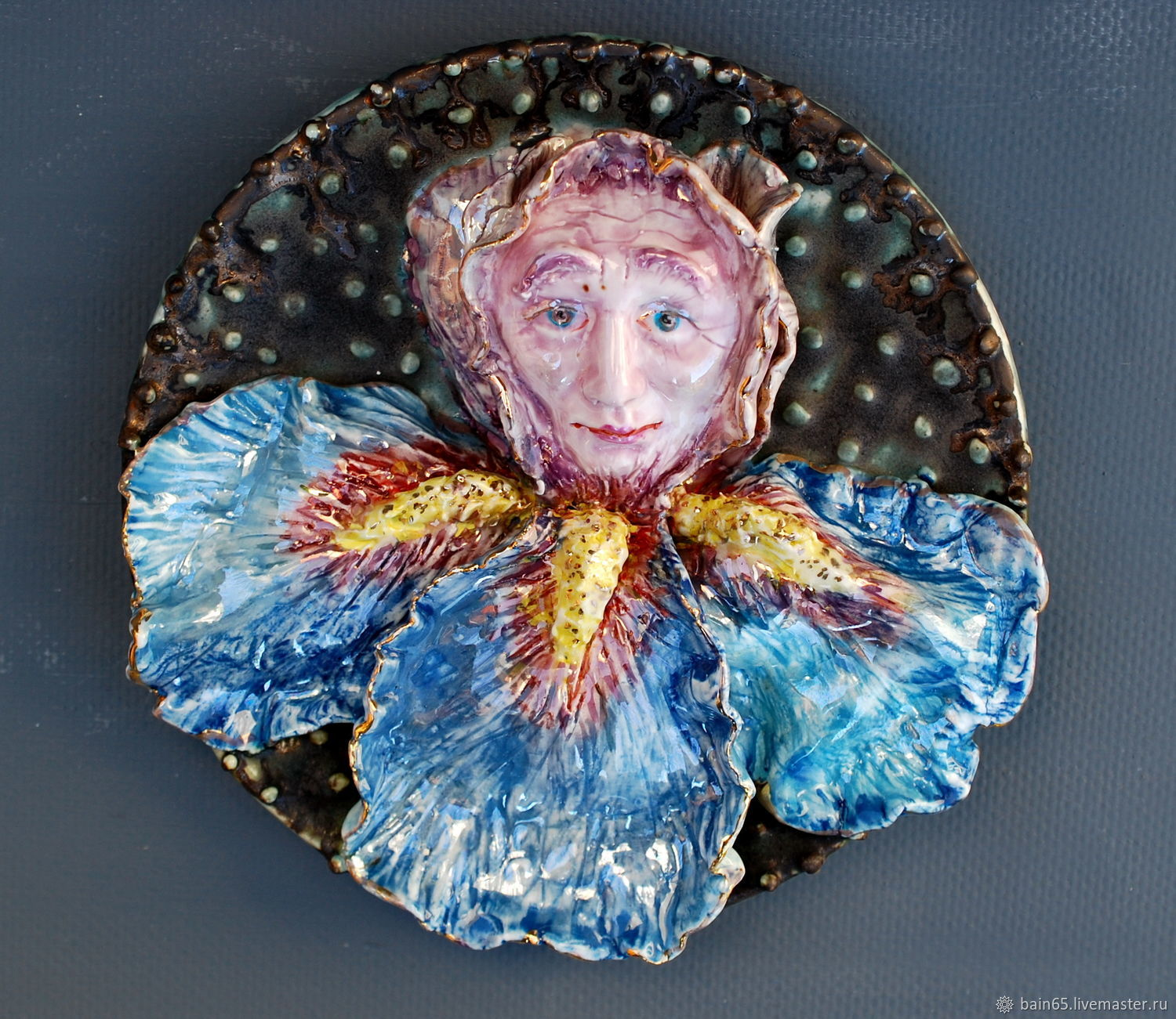 Fabulous flower. Ceramic panel on the wall, Panels, Moscow,  Фото №1