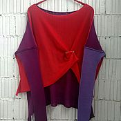 Одежда handmade. Livemaster - original item KN_003_OrKGv Blouson 3-x coloured. Handmade.