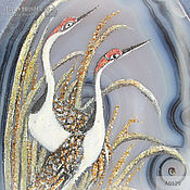 Fine art photographs handmade. Livemaster - original item A couple of Herons – Everlasting love agate agate wedding March 08. Handmade.