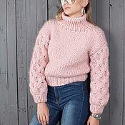 Одежда ручной работы. Ярмарка Мастеров - ручная работа Мериносовый свитер. Handmade.