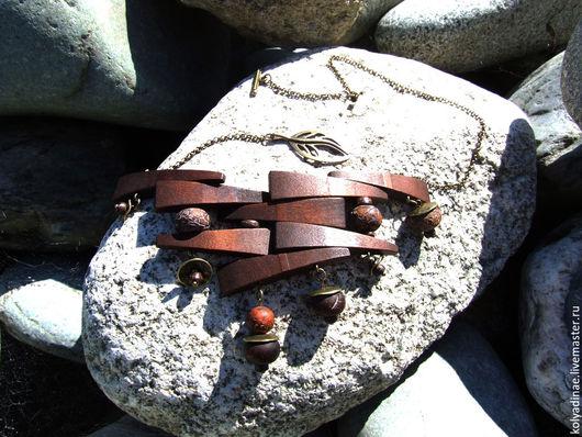 """Колье, бусы ручной работы. Ярмарка Мастеров - ручная работа. Купить Колье """"Дерево на камне"""". Handmade. Аутентичное украшение, бронза"""