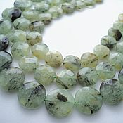 Материалы для творчества handmade. Livemaster - original item Prehnite faceted beads, pills,16mm, 19mm, 22mm. Handmade.