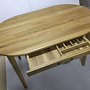 Для дома и интерьера handmade. Livemaster - original item Solid oak dining table with drawer. Handmade.