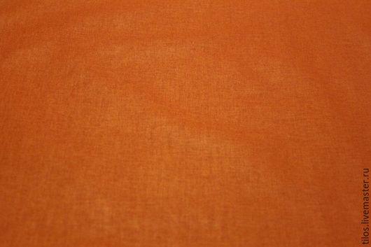 Шитье ручной работы. Ярмарка Мастеров - ручная работа. Купить ткань бязь рыжий цвет. Handmade. Ткань, ткань для рукоделия