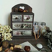 """Для дома и интерьера ручной работы. Ярмарка Мастеров - ручная работа Мини-комод """"Твин Пикс"""". Handmade."""