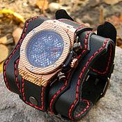 handmade. Livemaster - original item Watch wide bracelet. Handmade.