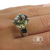 Украшения handmade. Livemaster - original item Ring with mystic quartz and CZ. 925 sterling silver. Handmade.