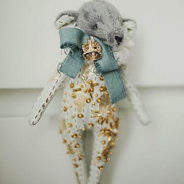 Куклы и игрушки ручной работы. Ярмарка Мастеров - ручная работа Елочная игрушка мышь. Handmade.