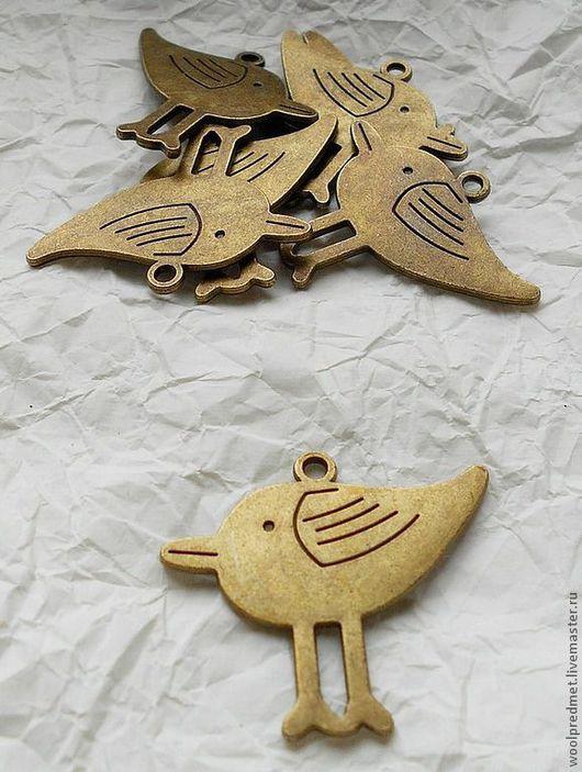 """Для украшений ручной работы. Ярмарка Мастеров - ручная работа. Купить Подвеска """"Птица"""". Handmade. Подвеска металлическая, птичка, сплав"""