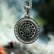 Украшения handmade. Livemaster - original item Pendant / Amulet Black Sun - Tree of Genus of silver 925. Handmade.