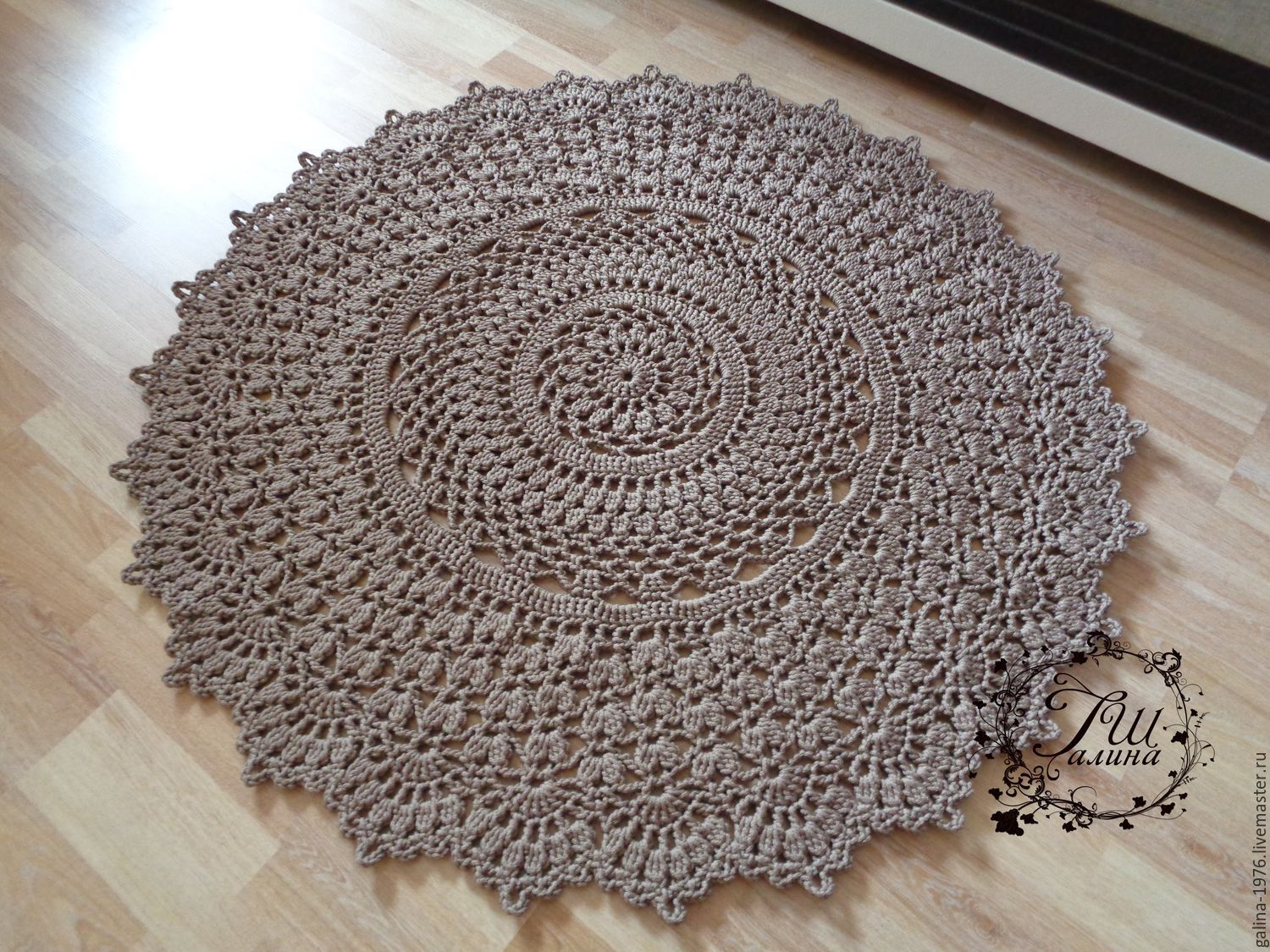 Knitted Carpet Quot Humility Quot Shop Online On Livemaster With