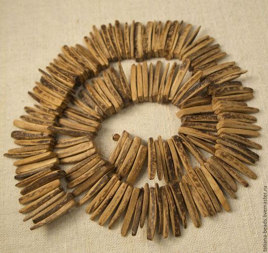 Для украшений ручной работы. Ярмарка Мастеров - ручная работа. Купить Бусины коричневые клыки из кокоса (Филиппины), 25 мм. Handmade.