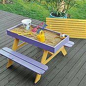 Мебель ручной работы. Ярмарка Мастеров - ручная работа Детская песочница-столик. Handmade.