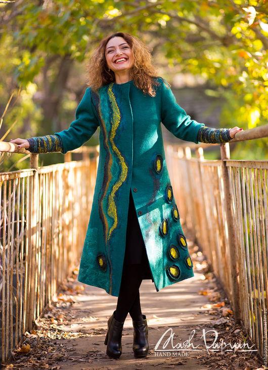 """Верхняя одежда ручной работы. Ярмарка Мастеров - ручная работа. Купить Валяное пальто """" Другая Земля """". Handmade."""