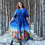 Одежда handmade. Livemaster - original item Dress felted on silk Landscape!. Handmade.