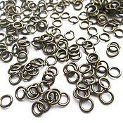 Материалы для творчества handmade. Livemaster - original item Connecting ring 4 mm bronze, 10 pcs. Handmade.